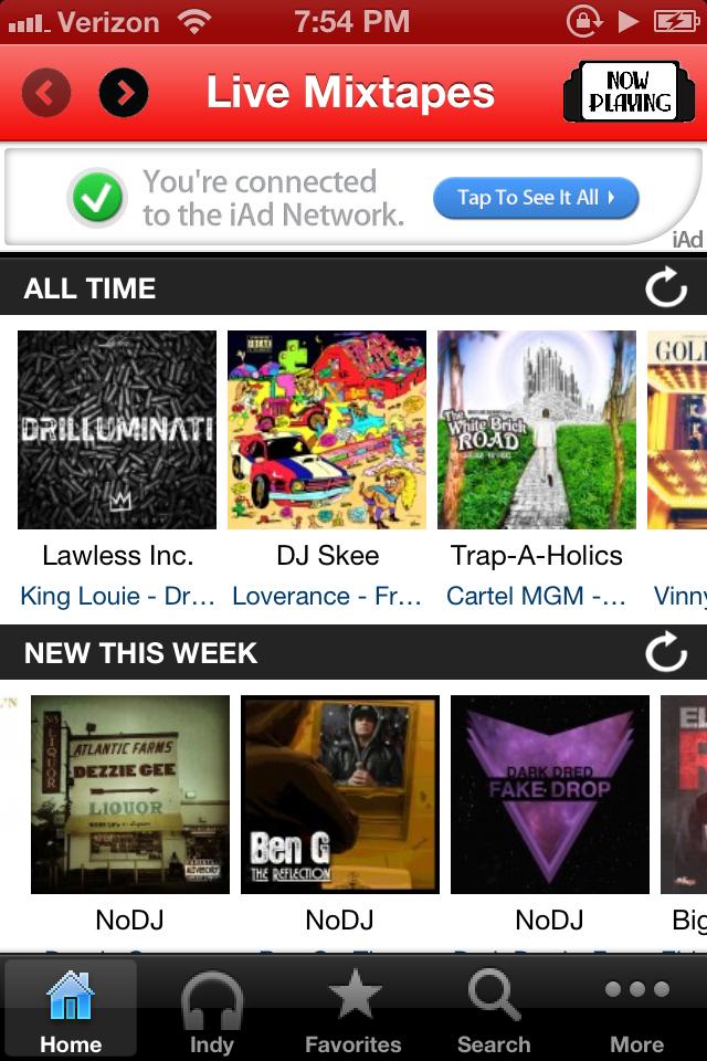 LiveMixtapes screenshot 1